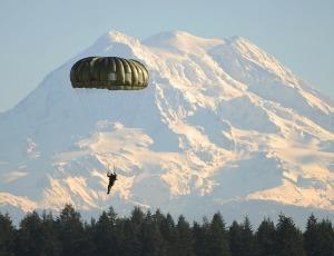 Parachutist at Ft. Lewis