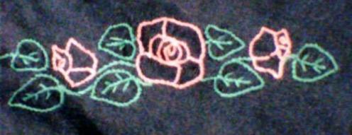 T-Shirt Detail: Roses