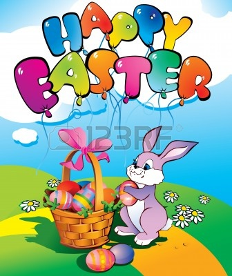 Easter Bunny With Wicker Basket