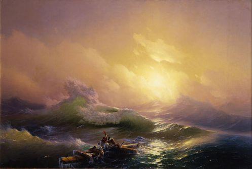 The Ninth Wave by HovahannesAivazovsky